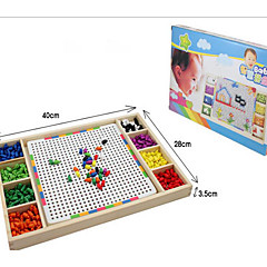 بانوراما الألغاز مجموعة اصنع بنفسك تركيب خشبي اللبنات DIY اللعب مربع خشب