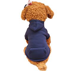 Hunde Kapuzenshirts Hundekleidung Frühling/Herbst einfarbig Modisch