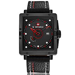 NAVIFORCE Men's Sport Watch Fashion Watch Wrist watch Casual Watch Quartz Calendar PU Band Luxury Cool Unique Watches