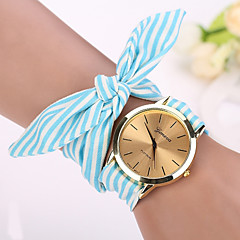 2015 newGeneva Fashion Watches Women Strap Dress Watch Wristwatch Girl Bow Cloth Strap Cool Watches Unique Watches