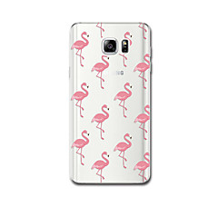 Για Θήκες Καλύμματα Εξαιρετικά λεπτή Με σχέδια Πίσω Κάλυμμα tok Φοινικόπτερος Μαλακή TPU για Samsung Note 5 Note 4 Note 3