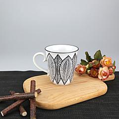 Minimalismi Juhla Juomalasit, 250 ml Yksinkertainen geometrinen kuvio Uudelleenkäytettävä Posliini Tee AlastonPäivittäis-juomalasit