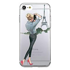 Na Ultra cienkie Wzór Kılıf Etui na tył Kılıf Seksowna dziewczyna Miękkie TPU na AppleiPhone 7 Plus iPhone 7 iPhone 6s Plus iPhone 6 Plus