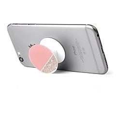 1 pc Phone Stand Holder Marble Pattern Plastic Telescopic Support 360 Rotating for Mobile Phone