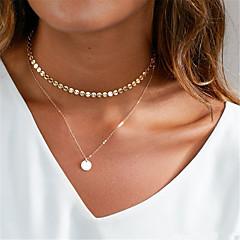 Dames Choker kettingen Y-Kettingen Sieraden Geometrische vorm Koper Hangende stijl Modieus PERSGepersonaliseerd Euramerican Goud Zilver