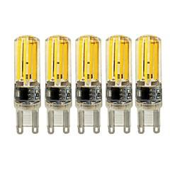 5W E14 G9 G4 Luminárias de LED  Duplo-Pin T 4 COB 450 lm Branco Quente Branco Regulável AC 220-240 V 5 pçs