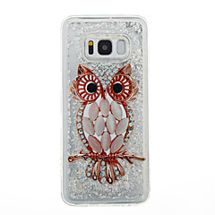 Voor Samsung Galaxy S8 plus s8 telefoon hoesje uil patroon vloeibaar vloeibaar glitter soft tpu materia s7 rand s7 s6 rand s6 s5