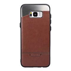 Til Samsung Galaxy S8 plus s7 cover dækker stokken læder med stok metal mobiltelefon tilfælde til s6 kant s6