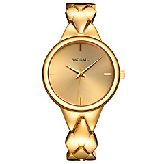 Damen Armbanduhr Armband-Uhr Quartz Legierung Band Bettelarmband Silber Gold Rotgold