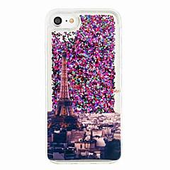 Για το iphone 7 7 συν ρέον υγρό μοτίβο περίπτωσης πίσω κάλυψη περίπτωση πύργος eiffel μαλακό tpu για iphone 6s 6 plus se 5s 5 5c 4s