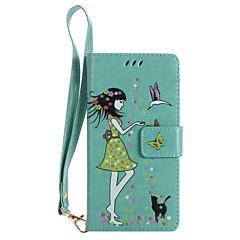 Til Sony xperia xz xa ultra telefon taske pu læder materiale kvinde og kat mønster lysende telefon sag z5