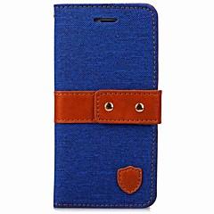 iPhone 7 7 plus burkolata kártya tartó pénztárca állvánnyal fordítsa mágneses testes esetben egyszínű nehéz textil iphone iphone 6 6 plus