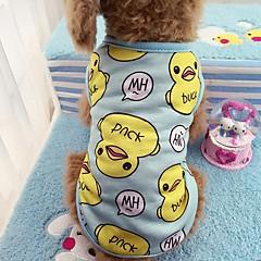 Kot Pies T-shirt Yelek Ubrania dla psów Codzienne Zwierzę Niebieski Różowy