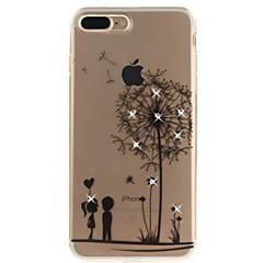 iPhone 7 7 + 6 6s plus 5 5s SE suojus voikukka kuvio HD maalattu pora TPU materiaalia IMD prosessi voimakkaasti läpäisevän puhelinkotelo