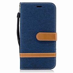 Motorola g5 plusz g5 burkolata kártya tartó pénztárca állvánnyal Flip mágneses teljes test esetében színblokkokat nehéz textil Motorola g4