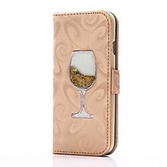 Til iphone 7 7 plus case cover kortholder pung med stående skiftende sandtragt flip pu læder taske til iphone 6 6 plus 5 5s se
