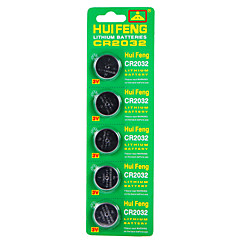 HUI FENG CR2032 Button Battery 3V 5Pcs