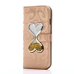iPhone 7 7 plus suojus kortin haltija lompakon jalustalla sydän siirtää hiekkaa suppilo flip pu nahkakotelo iPhone 6 6 + 5 5s SE
