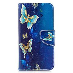 Huawei P10 lite P8 lite (2017) puhelinkotelo pu nahka kultainen perhonen malli maalattu p10 P9 lite P9 Y5 ii kunniaa 6x