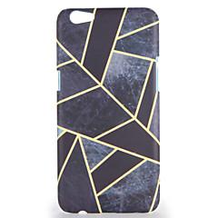 Til oppo r9s r9s plus case cover mønster bagside cover geometrisk mønster hard pc r9 r9 plus