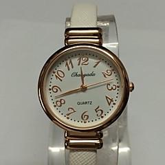 Women's Ladies' Fashion Watch Wrist watch Quartz Alloy PU Band Sparkle Bangle Casual Black White Brown Pink Purple