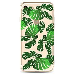 För Apple iPhone 7 7 plus 6s 6 plus fodral täcka gröna blad mönster målade hög penetration tpu material mjukt fodral telefonväska