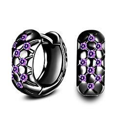 Store øreringe Kvadratisk Zirconium Mode Guldbelagt Cirkelformet Smykker For Daglig Afslappet 1 par