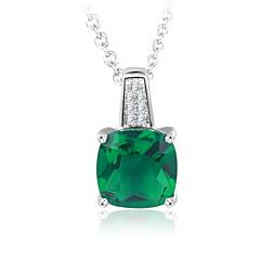 Naisten Tyttöjen Choker-kaulakorut Riipus-kaulakorut Kaulaketjut Smaragdi Tekohelmi Geometric Shape Platinum Plated Yksinkertainen Pyöreä