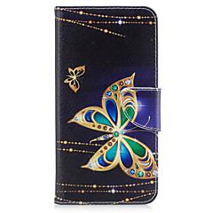 Kompatibilitás iPhone X iPhone 8 tokok Kártyatartó Pénztárca Állvánnyal Flip Minta Teljes védelem Case Pillangó Kemény Műbőr Bőr mert