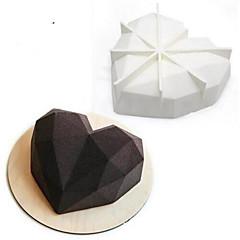 bageform Hjerte Til Kage Til Chokolade Silikone 3D Nonstick Bryllup Ferie Valentinsdag