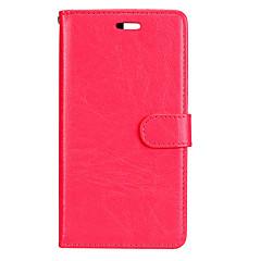 Huawei P8 lite (2017) p10 lefedik a klasszikus három kártya egyszínű pu bőr pénztárca anyag telefon esetében p10 P9 P8 lite P9 p10 plusz