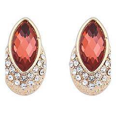 Dame Stangøreringe Dråbeøreringe Store øreringe Imiteret Diamant Enkelt design Unikt design Logo Rhinsten Venskab Afrika Boheme Stil