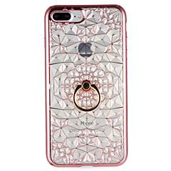 Na Etui Pokrowce Uchwyt pierścieniowy Etui na tył Kılıf Geometryczny wzór Miękkie Poliuretan termoplastyczny na AppleiPhone 7 Plus iPhone