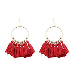 Γυναικεία Κρεμαστά Σκουλαρίκια Κοσμήματα Euramerican κοστούμι κοστουμιών Μοντέρνα Εξατομικευόμενο Πολυ/Βαμβάκι Κράμα Circle Shape
