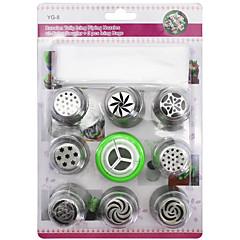 10 개 베이킹 & 패스트리 도구 잡다한 것 케이크 쿠키 Cupcake 파이 플라스틱 스테인레스 스틸(스테인레스 강) 베이킹 도구 고품질 비 스틱 DIY