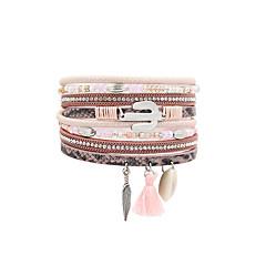 Dames Lederen armbanden Sieraden Modieus Vintage Bohemia Style Turks Leer Sieraden VoorBruiloft Feest Verjaardag Feest/Avond