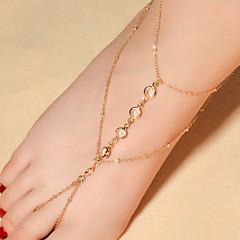 Kadın Ayak bileziği/Bilezikler Kristal Moda Damla Mücevher Için Günlük 1pc