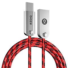 Type-C Normal Kabel Til Samsung Huawei Sony Nokia HTC Motorola LG Lenovo Xiaomi cm Aluminium Nylon