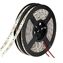 LED Light Strips waterproof 5050 10 m 600 leds 9000 lm Warm White /White/ Red /Yellow/ Blue Green DC 12V