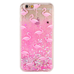 Case voor apple iphone 7 7 plus flamingo glitter shine patroon vloeibare harde pc 6s plus 6 plus 6s 6