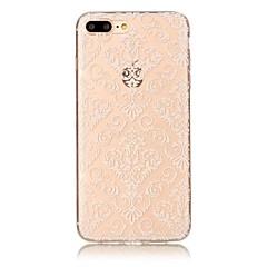 Για το iphone 7 7 συν κάλυψη περίπτωσης διαφανές πρότυπο πίσω κάλυμμα λουλούδι μαλακό tpu για iphone 6s 6 plus 6s 6 se 5s 5 5c