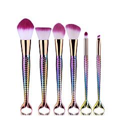 6Contour Brush Brush Lavastus Poskipunasivellin Luomivärisivellin Rajaussivellin Ripsi- ja värjäysharja Puuterisivellin Meikkisieni