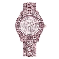 Montre Décontractée Quartz Imitation de diamant Bande Argent Doré Or Rose