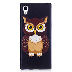 Sony xperia xa1 xz case cover uil patroon geverfd reliëf gevoel tpu soft case telefoon hoesje