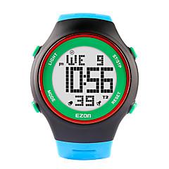 ezon mody zegarki ultracienkich męskie sportowe damskie wodoodporne cyfrowy stoper gumowy datę alarmu sportowy zegarek na rękę