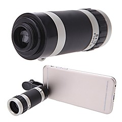 Universele 8x zoom draagbare clip-on mobiele telefoon camera telelens telescoop camera voor iphone 7 6s 6 5s 5c 5 4s itouch ipad samsung