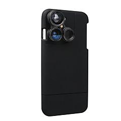 Housse pour objectif 4 en 1 iphone 7 plus 5.5 lentille appareil photo kit de lentille oeil de poisson / macro lentille / étui grand angle