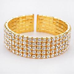 Dam Tennis Armband Mode kostym smycken Bergkristall Legering Cirkel Form Smycken Till Födelsedag Julklappar