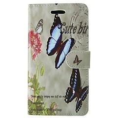 Taske til samsung galaxy s7 s8 rose sommerfugl hel krops cover med kort og stativ taske til s3 mini s4 mini s5 s5 mini s6 s6 kant s5 aktiv