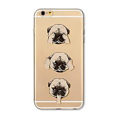 Etui til iphone 7 plus 7 cover gennemsigtigt mønster bagcover case tegneseriehunde bløde tpu til iphone 6s plus 6 plus 6s 6 se 5s 5c 5 4s